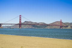 Golden Gate Bridge, San Francisco. The Golden Gate Bridge as viewed from the beach of the city Royalty Free Stock Image