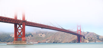 Golden Gate Bridge, San Francisco. USA on foggy day Stock Image