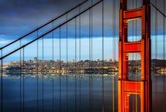 Golden gate bridge, San Francisco stockfotos