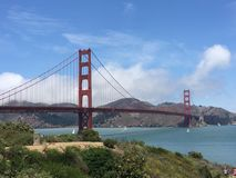 Golden Gate Bridge. San Francisco Golden Gate Bridge Royalty Free Stock Photography