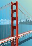 Golden Gate Bridge royalty free illustration