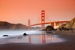 Golden Gate Bridge, San Francisco stock photography