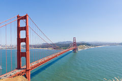 Golden Gate Bridge  with San Francisco in the background. Stock Images