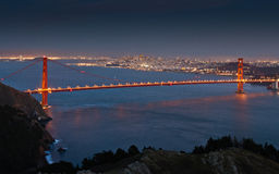 The Golden Gate. Bridge with San Francisco in the background Stock Photography
