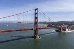 Golden Gate Bridge with San Francisco in Background Stock Photo
