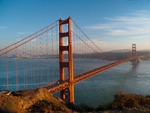 Golden Gate Bridge with San Francisco background. Golden Gate Bridge late afternoon with San Francisco background Royalty Free Stock Images