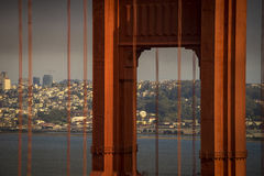 Golden gate Bridge with San Francisco in the background Royalty Free Stock Photography