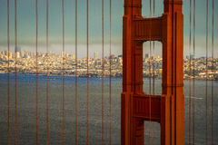 Golden gate Bridge with San Francisco in the background Stock Image