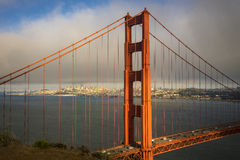 Golden gate Bridge with San Francisco in the background Royalty Free Stock Photos
