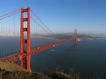 Golden Gate Bridge and San Francisco Bay royalty free stock photography