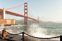 Golden Gate Bridge and San Francisco Bay Stock Photography