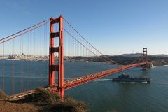 Golden gate bridge San Francisco Bay California Royaltyfria Foton
