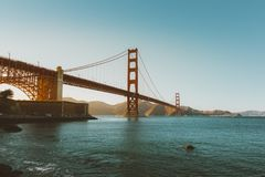 Golden Gate Bridge and San Francisco Bay, California Royalty Free Stock Photos