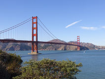Golden Gate Bridge San Francisco Bay California. Golden Gate Bridge, San Francisco, California, USA view from Muir Woods National Park Royalty Free Stock Photo