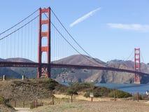 Golden Gate Bridge San Francisco Bay California. Golden Gate Bridge, San Francisco, California, USA view from Muir Woods National Park Stock Image