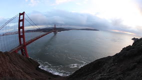 Golden Gate Bridge and San Francisco Bay stock video footage