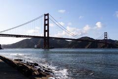 Golden Gate Bridge San Francisco Bay Ship Stock Photography