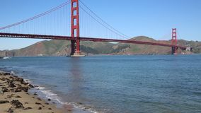 Golden Gate Bridge and San Francisco Bay stock footage