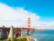 Golden Gate bridge in San Francisco bay. World famous Golden Gate bridge in San Francisco bay, California Royalty Free Stock Image