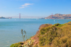 The Golden Gate Bridge in San Francisco with beautiful azure oce Royalty Free Stock Photos