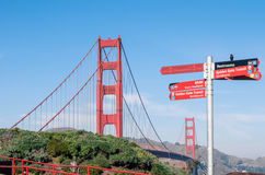 Golden Gate Bridge - San Francisco in a bright sunny day Royalty Free Stock Photo
