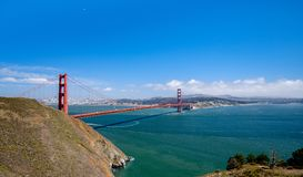 Golden Gate Bridge View from North to South stock photos