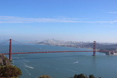 Golden Gate Bridge San Francisco California. A clear day at the lookout of the Golden Gate Bridge overlooking San Francisco, California Stock Photography