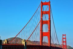 Golden Gate Bridge. The Golden Gate Bridge in San Francisco California royalty free stock photos