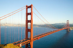 Golden Gate Bridge in San Francisco California in the morning Stock Images