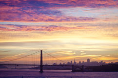 Golden Gate Bridge in San Francisco California in the morning Royalty Free Stock Images