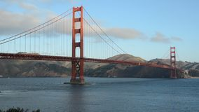 Golden Gate Bridge in San Francisco California after sunrise stock video footage
