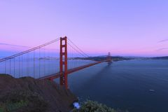 Golden Gate Bridge, San Francisco, California at twilight  Royalty Free Stock Photo
