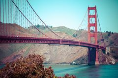 Golden Gate Bridge in San Francisco, California. Royalty Free Stock Images