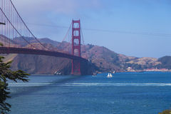 Golden Gate Bridge, San Francisco, California, USA during a clean sunny day Royalty Free Stock Photography
