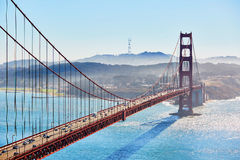 Golden Gate bridge in San Francisco, California, USA. Famous Golden Gate bridge in San Francisco, California, USA stock photo