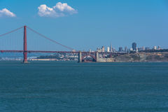 The Golden Gate Bridge, San Francisco. San Francisco,California,USA - June 8, 2015 : The Golden Gate Bridge and the San Francisco skyline Royalty Free Stock Photos
