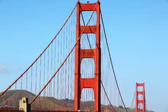 Golden Gate Bridge. In San Francisco California USA West Coast of Pacific Ocean stock photo