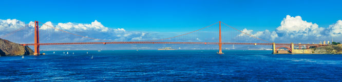 Golden Gate Bridge. In San Francisco, California The View from the water Royalty Free Stock Images