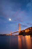 Golden Gate Bridge, San Francisco at dusk Stock Images