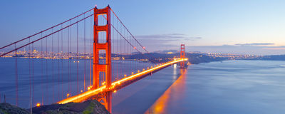 Golden gate bridge, San Francisco, EUA Foto de Stock Royalty Free