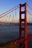 Golden Gate Bridge of San Francisco at evening Royalty Free Stock Image