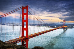 Golden Gate Bridge, San Francisco. Famous Golden Gate Bridge, San Francisco at night, USA Royalty Free Stock Photos