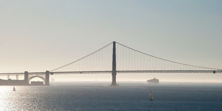 The Golden Gate Bridge in San Francisco with fog and ocean in ba Stock Photography