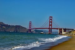 Golden gate bridge - San Francisco - Kalifornien Lizenzfreies Stockbild