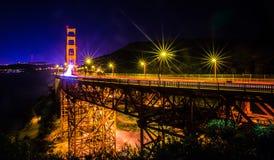 Golden gate bridge in san francisco at night. Golden gate bridge in san francisco at  night Royalty Free Stock Image