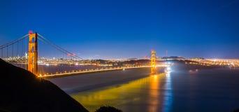 Golden gate bridge in san francisco at night. Golden gate bridge in san francisco at  night Stock Photography