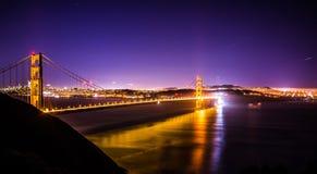 Golden gate bridge in san francisco at night. Golden gate bridge in san francisco at  night Royalty Free Stock Photography