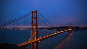 Golden Gate Bridge. San Francisco Golden Gate Bridge night  timelapse stock video