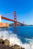Golden Gate Bridge San Francisco from Presidio California Royalty Free Stock Photography