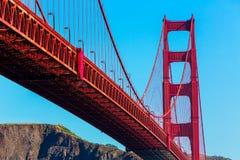 Golden Gate Bridge San Francisco from Presidio California Stock Photography